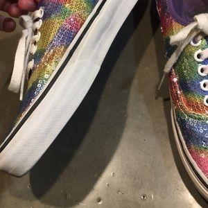 Vans Shoes - Vans rainbow sequin sneakers